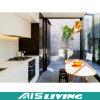 Mobília elevada feita sob encomenda do gabinete de cozinha da laca do lustro (AIS-K059)