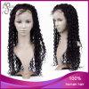 Парик фронта шнурка человеческих волос девственницы бразильский длинний курчавый