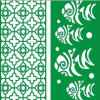 Color verde Green Material Perforated Aluminum Panels per Building Decoration