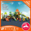 Campo de jogos ao ar livre da corrediça plástica do parque de diversões