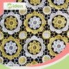 ткань африканца конструкции цветка оптовых предварительных машин 130cm желтая
