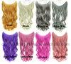 波状毛の拡張の多彩な魚ライン毛のスライスフリップ