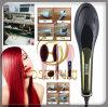 Nueva enderezadora caliente del pelo 2015 con el cepillo de pelo eléctrico de cerámica del peine