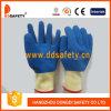 Желтой раковины T/C голубая латекса перчатка покрытия полно (DKL600)