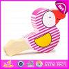 Jouets musicaux d'enfants drôles et jouet en bois bon marché de sifflement d'oiseau pour la promotion W07e004