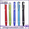 Crayon lecteur de boule bon marché de lustre en métal de stylo bille de clip de forme aérodynamique