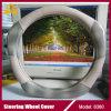 Dekking van het Stuurwiel van de Auto van de Luxe van het Leer van de Vezel van het Leer van Microfiber de Super