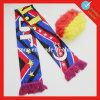 編むスポーツ・ファンのサッカーのカスタムフットボールのスカーフ