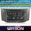日産B17 (W2-D8901N)のためのGPSのWitson Car DVD Player Steering Wheel Control Front DVR Capactive Screen