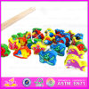 2015 Wooden intellettuale Magnetic Kids Fishing Game Toys, 3D Magnetic Fishing Toy, Good Quality Wooden Block Fishing Toy W01A011