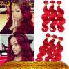 Волосы повелительницы Choosed Малайзийца Людск Девственницы самой высокой объемной волны красного цвета красивейшие