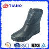 Gaines de pluie confortables noires de PVC pour Ladys (TNK70012)