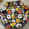 Hexagon-Blumendruck-Segeltuch-Haustier-Bett, Hundebett