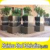 粉の上塗を施してあるステンレス鋼プランター金属の植木鉢