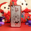 Style chino Electroplating Caishenye Pattern Lightweight Plastic Cell Phone Caso para el iPhone 6
