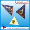 주문품 라이온스 클럽 로고 삼각형 접어젖힌 옷깃 Pin