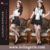 La bonne sexy de jeu de jupe de lingerie équipe le costume de fantaisie de dames (KS11-010)