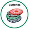 El silicón modificado para requisitos particulares co llaveros personalizados