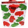 Sac promotionnel de cadeau de papier de carton d'impression de gants de Noël de scintillement