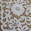 Белая вышивка Chemical Lace Polyester для Apparels
