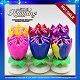 14 PCS-Kerze-Blumen-Musik-alles- Gute zum Geburtstagkerzen für Kinder