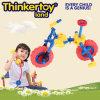 Brinquedos de conexão do plástico, mini brinquedos do jardim da bicicleta