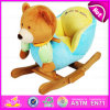 Brinquedo de balanço do luxuoso de madeira popular, brinquedo de balanço do contrapeso de madeira, Giocattolo um Dondolo, brinquedo de balanço de madeira do urso, brinquedo de balanço W16D080