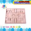 O Desktop de madeira das crianças brinca o enigma de madeira dos blocos de apartamentos desenvolventes dos brinquedos (XYH-JMM10006)