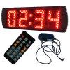 5 4 cifre Semi-Outdoor orologio digitale del LED, regolare supporto delle funzioni orologio e il conto alla rovescia / la funzione, colore rosso