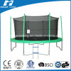 10FT Round Big Trampoline con Enclosure