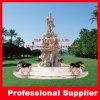 Fontaine d'eau de marbre découpée par main de place de jardin de granit