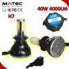 diodo emissor de luz Headlight Bulb de 80W 8000lm Fan Cooling H7