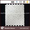 Mattonelle di mosaico di marmo bianche pure personalizzate di disegno