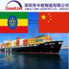 O frete de mar o mais barato de China à região somaliana, Etiópia
