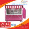 Colour rosado Mobile Restaurant Food Cart para Hot Sale