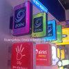 Zain 아크릴 가벼운 상자 표시를 위한 정연한 가벼운 상자