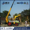 1-6m bewegliche neueste Bohrgerät-Maschine des Stangenbohrer-Dft-A1004 mit Kran
