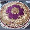 La mano circolare persiana fatta a mano delle moquette ha annodato le coperte rotonde di seta orientali 7X7 disegno viola del medaglione di 240L 400kpsi la Cina cinese fornitori all'ingrosso
