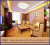 Ensemble commercial classique de sofa d'entrée de meubles d'hôtel en bois plein de tissu d'antiquité de conception de Chinois