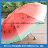 공상 Watermelon Printing Fold 일요일 및 Rain Umbrella Parasol