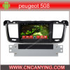 Peugeot 508 (AD-7068)のためのA9 CPUを搭載するPure Android 4.4 Car DVD Playerのための車DVD Player Capacitive Touch Screen GPS Bluetooth