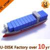 Movimentação feita sob encomenda do flash do USB do PVC da forma do navio (PVC-Enviar)