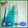 10mm 100% Virgin Ten Years Guarteen Polycarbonate Hollow Sheet