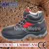 Chaussures de travail en acier de sûreté de chapeau d'orteil de cuir fendu de peau de vache de Nmsafety