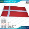 Bandera nacional 100% de Dinamarca del poliester de la alta calidad 160GSM (J-NF05F09013)