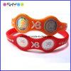 Bracelet ionique d'hologramme de sport d'énergie de logo d'alimentation électrique faite sur commande de silicone (P5208)