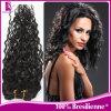 Prodotto 2015 Curly brasiliano Wavy Hair Extension per le donne di colore