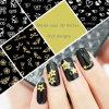 New&Hot vendant l'art d'ongle de beauté d'ongle de couleur d'argent d'or en métal d'autocollant de l'ongle 3D