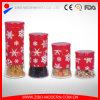 Tarro de cristal redondo al por mayor del alimento del caramelo del almacenaje con diseño del acero inoxidable