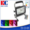 10W Rechargeable LED Flood Light RGB voor Zuid-Afrika